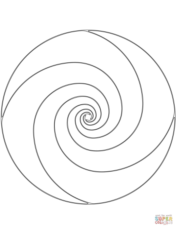 Spiral Mandala Coloring Page