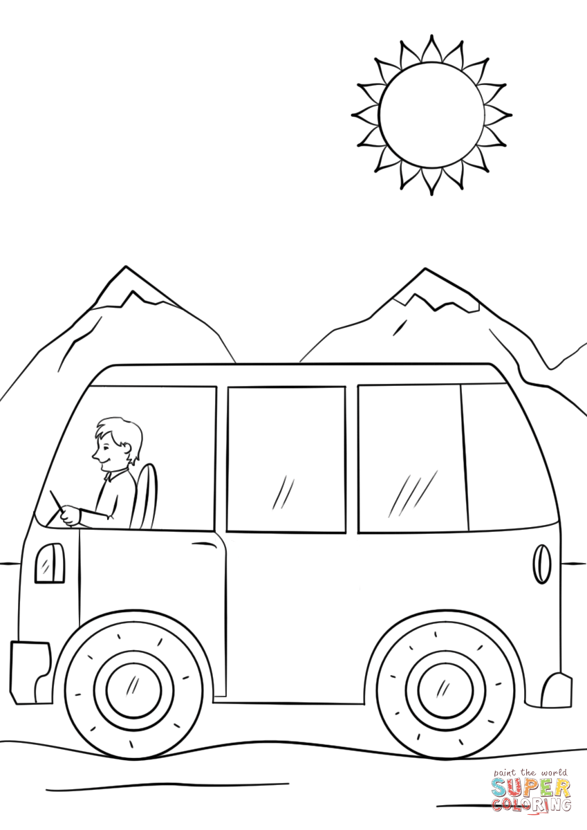 1977 Eagle Bus Wiring Diagram Auto Electrical Cartoon Hippie Van Drawing Sketch Coloring Page Beautiful Bluebird