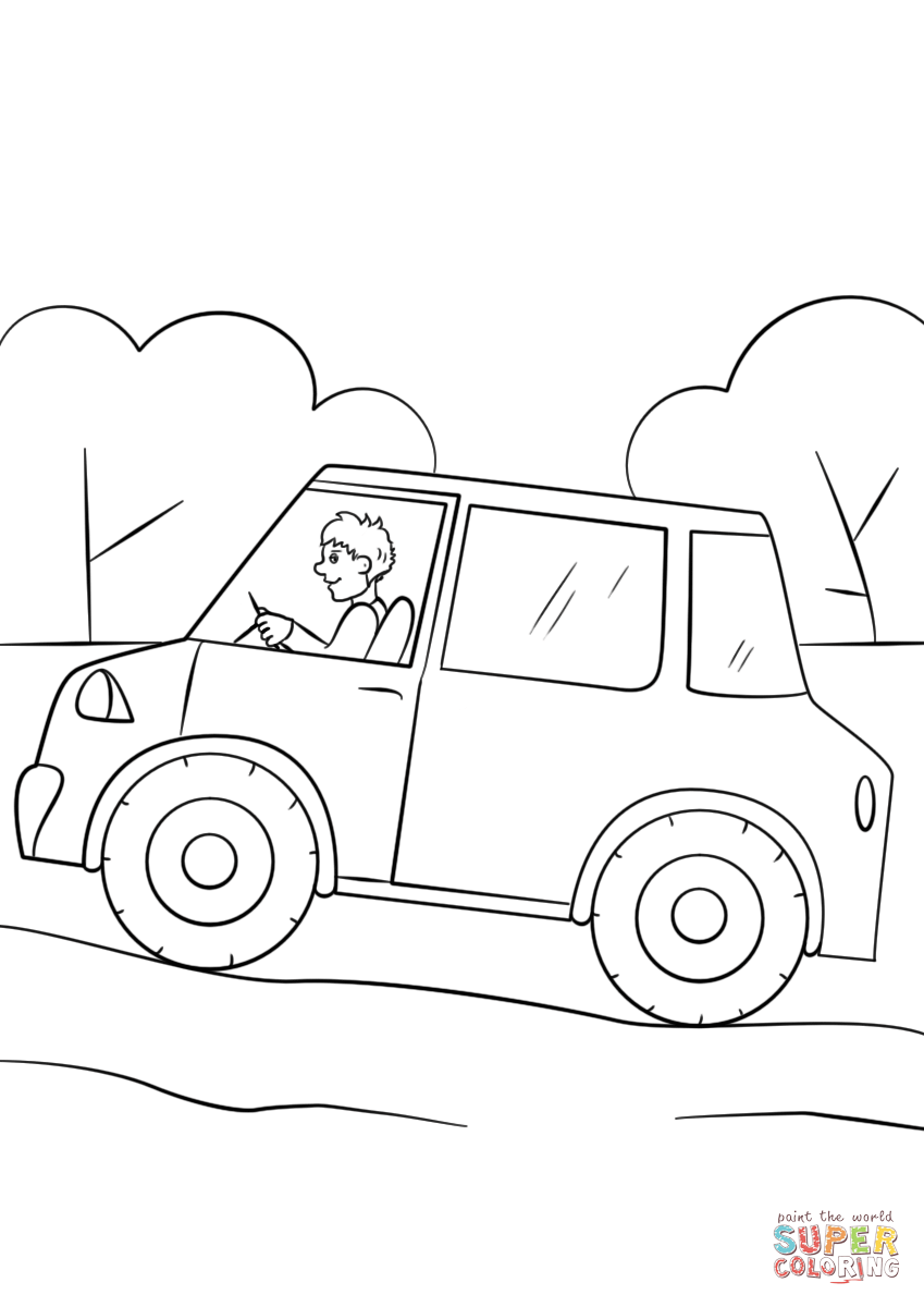 Car Pollution Coloring Pages Sketch Coloring Page