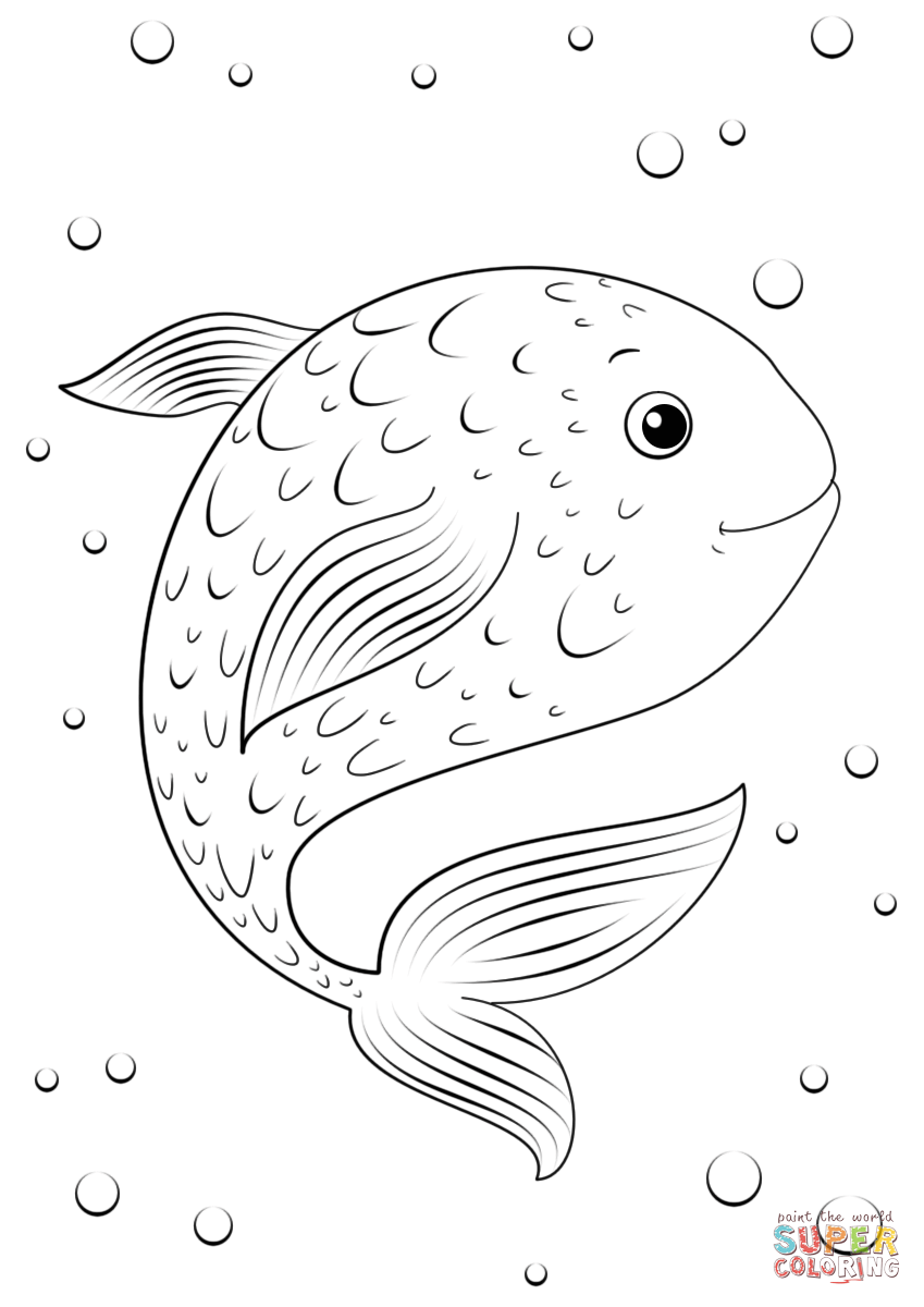Cartoon Fish Coloring Page Free Printable Coloring Pages