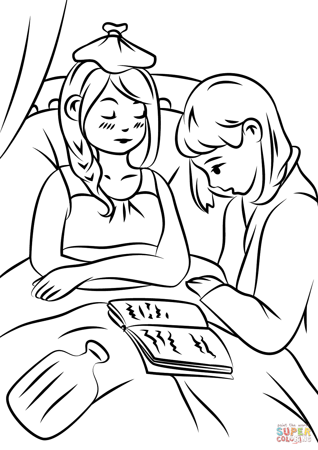 Prayers For The Sick Pages Coloring Pages