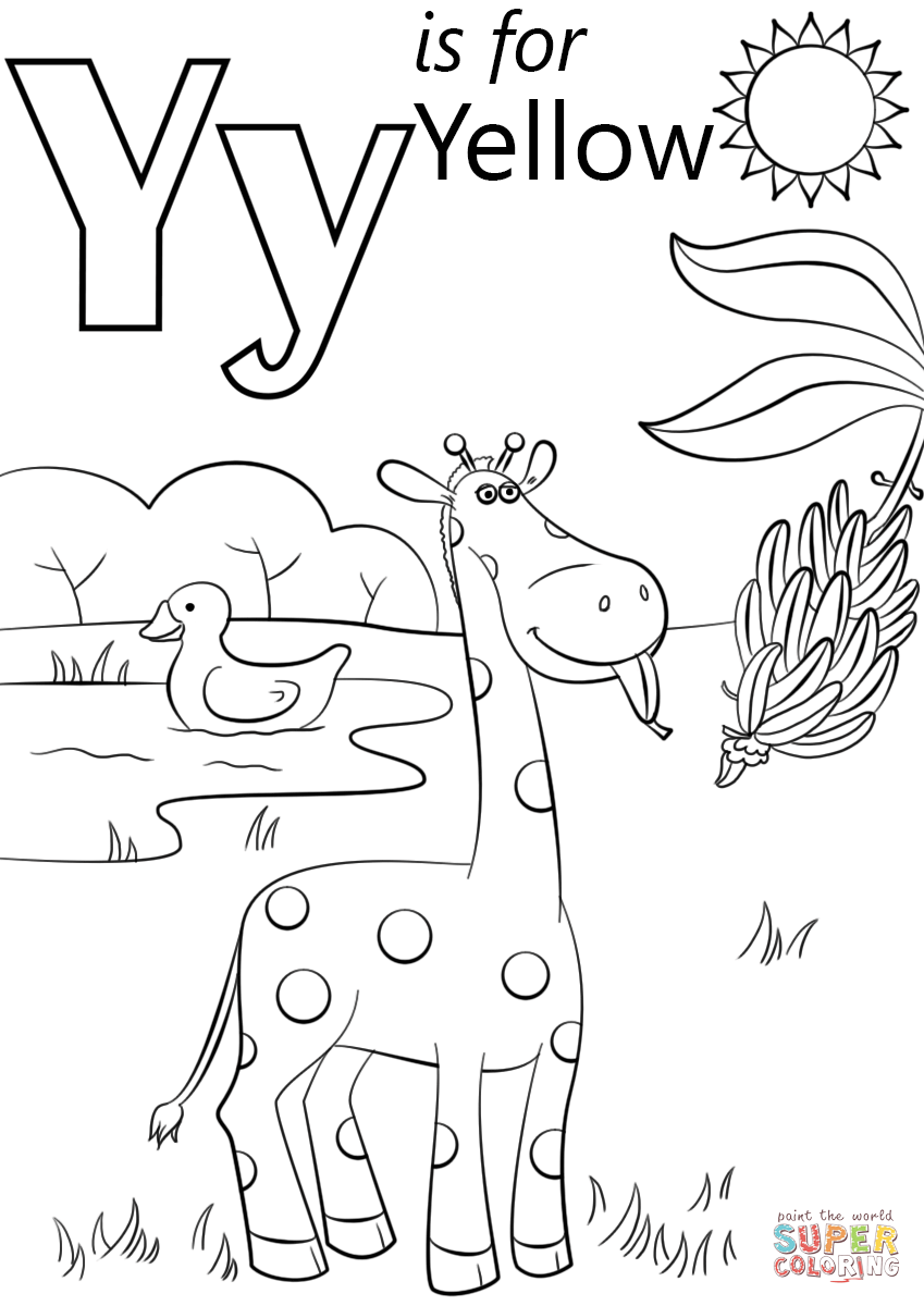 87 coloring page letter y printable pdf letter y for Letter y coloring pages free
