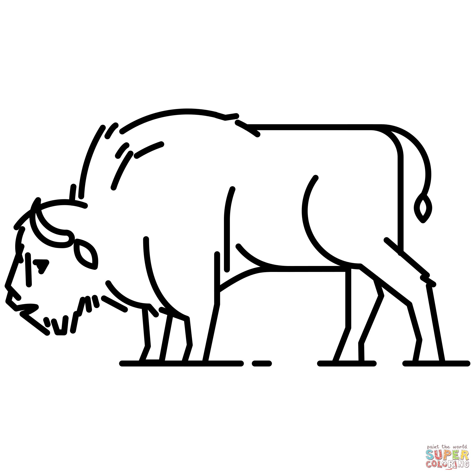European Bison Coloring Page
