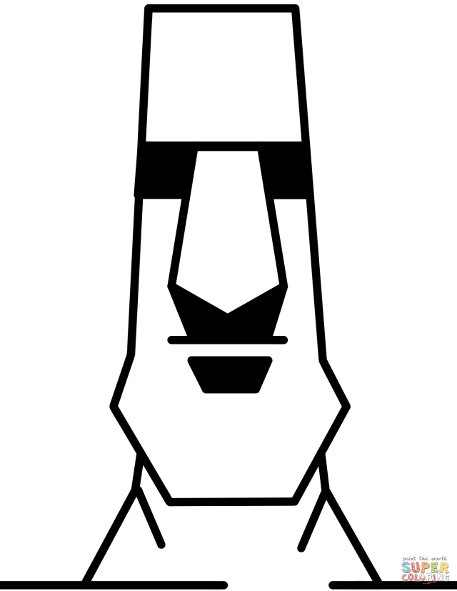 Easter Island Moai Statue coloring page  Free Printable Coloring