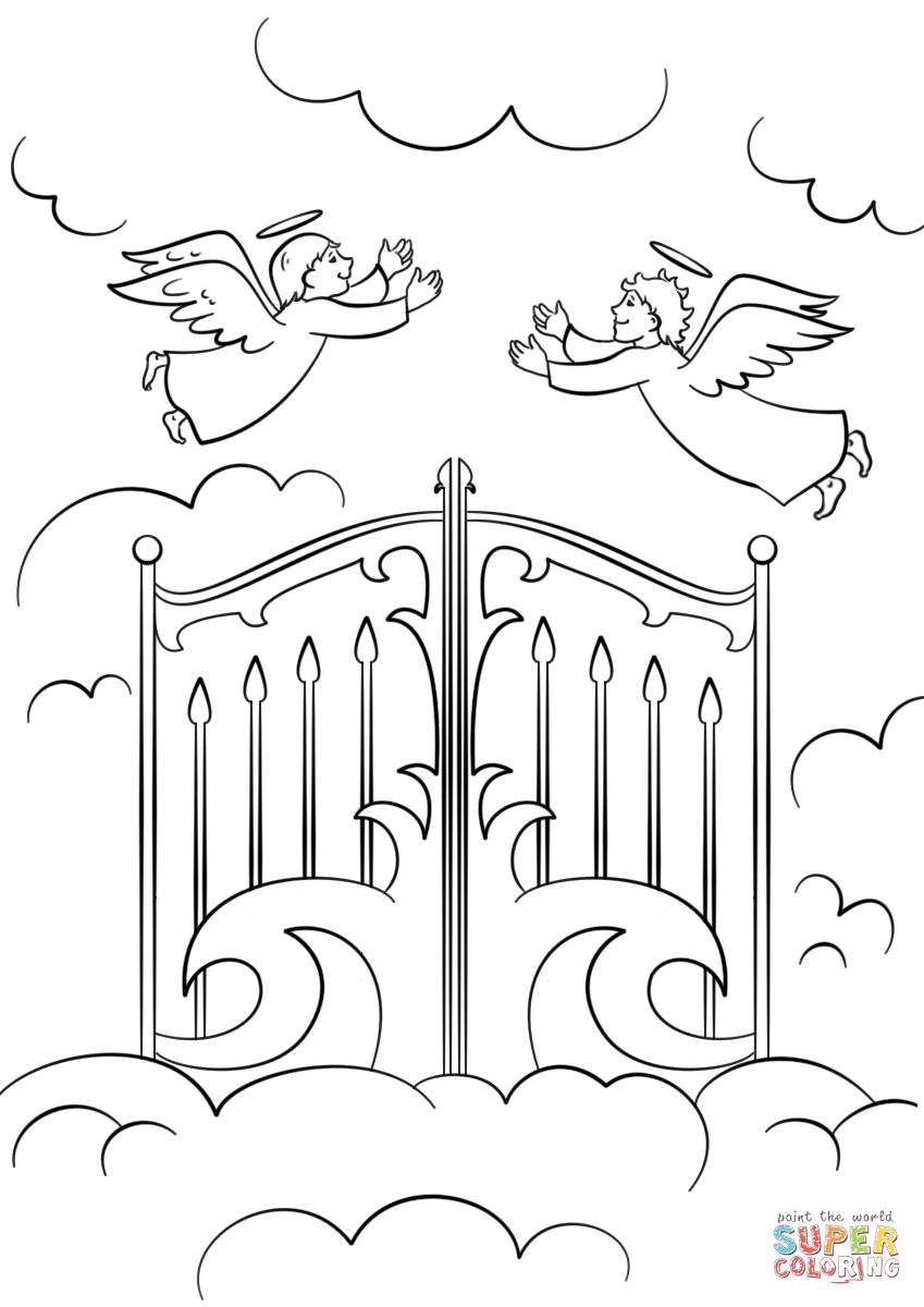 Heaven Coloring Pages Letter H is for Heaven coloring page