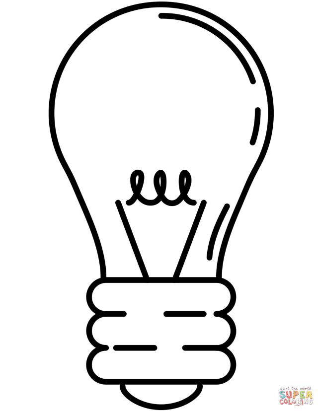 Lightbulb coloring page  Free Printable Coloring Pages