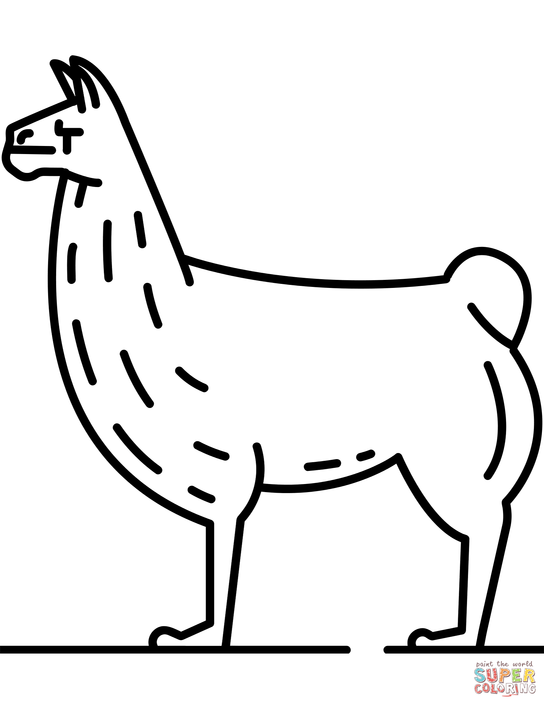 Llama Printable Coloring Pages Sketch Coloring Page