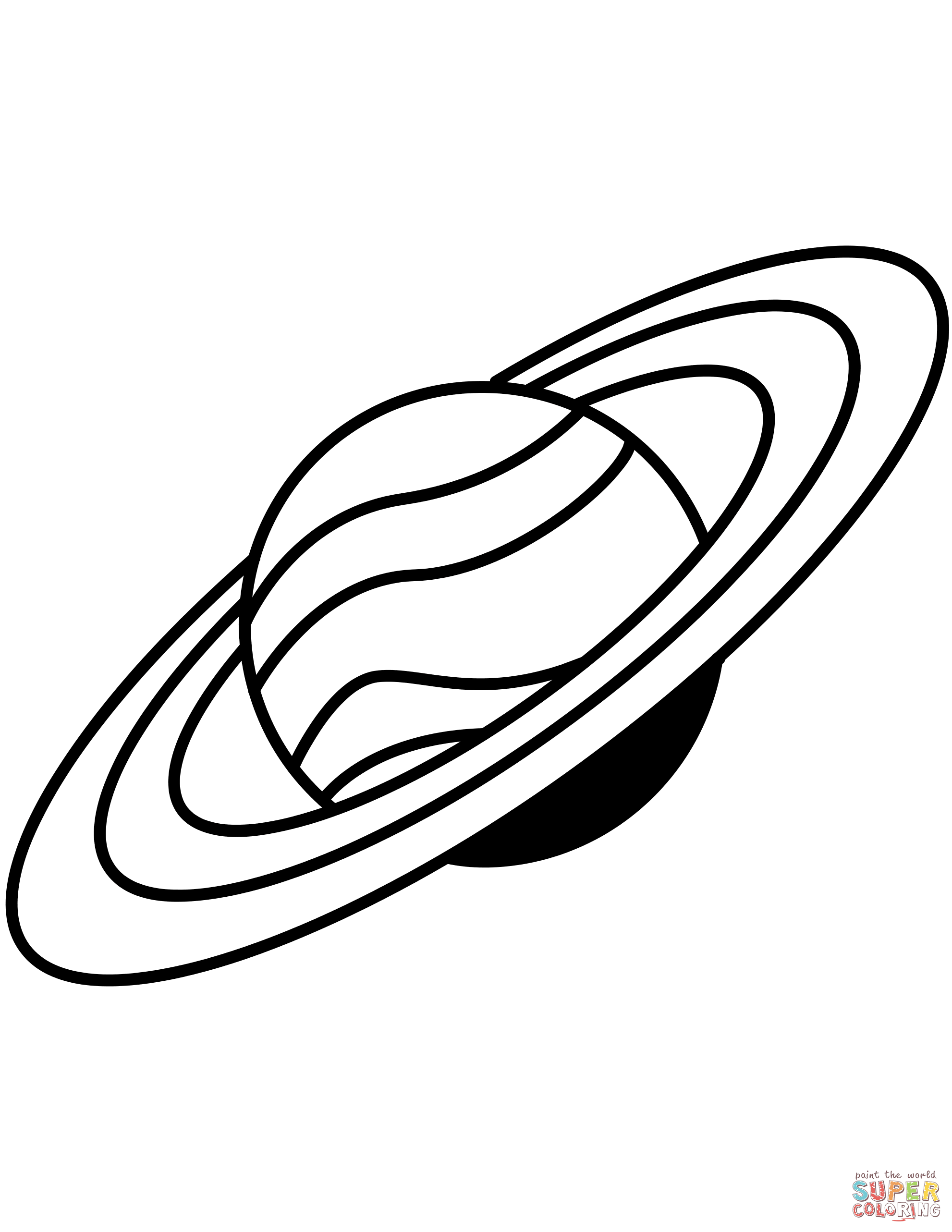 Saturn Drawing Coloring Pages