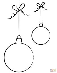 Dibujo de Bolas de Navidad para colorear