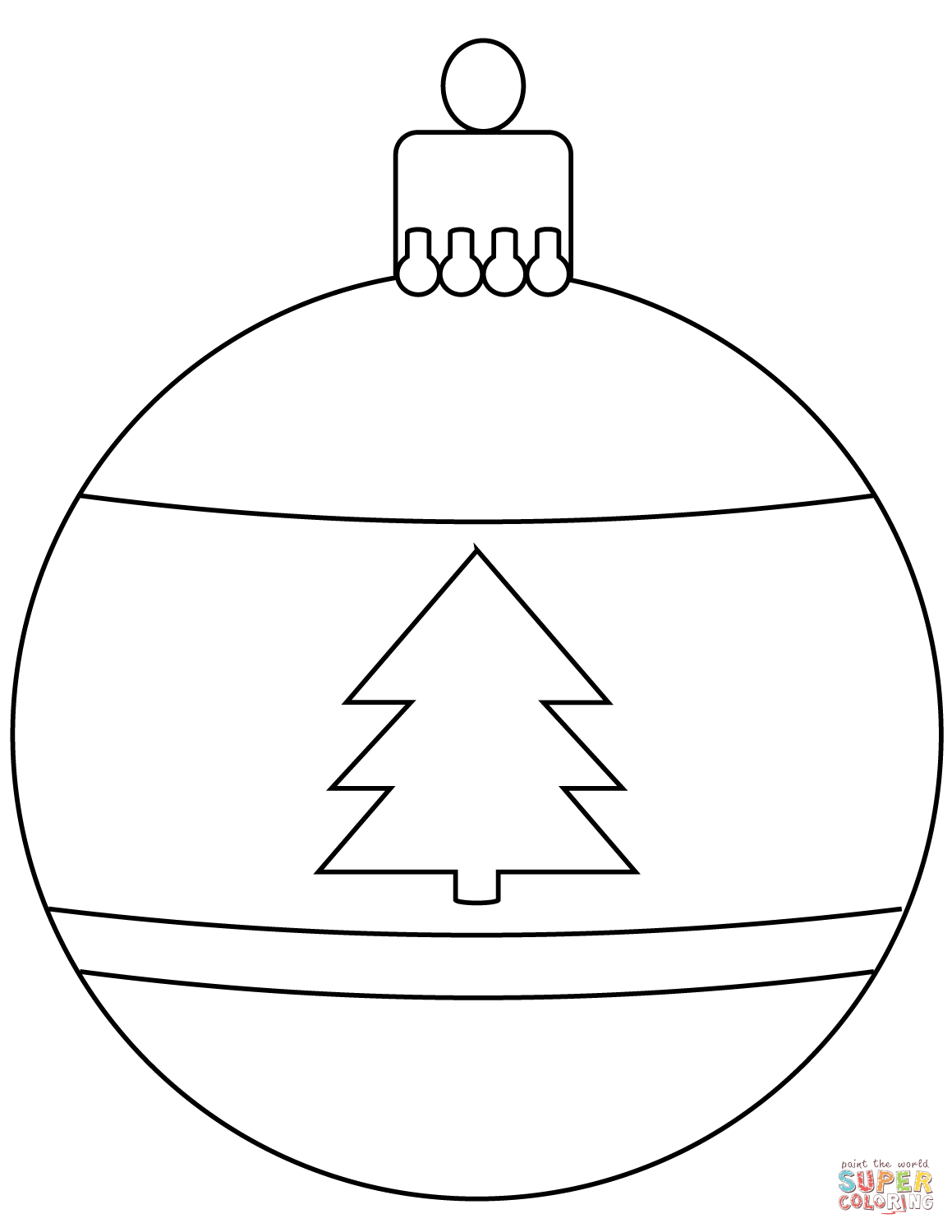 Christmas Bauble Ornament Coloring Page