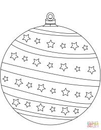 Dibujo de Bola de Navidad para colorear