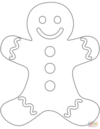 Plain Gingerbread Man coloring page | Free Printable ...
