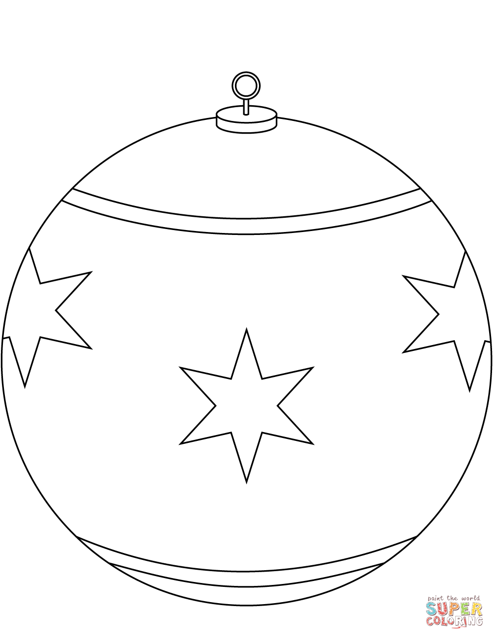 Round Christmas Ornament Coloring Page Free Printable Coloring Pages