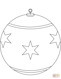 Round Christmas Ornament coloring page | Free Printable ...