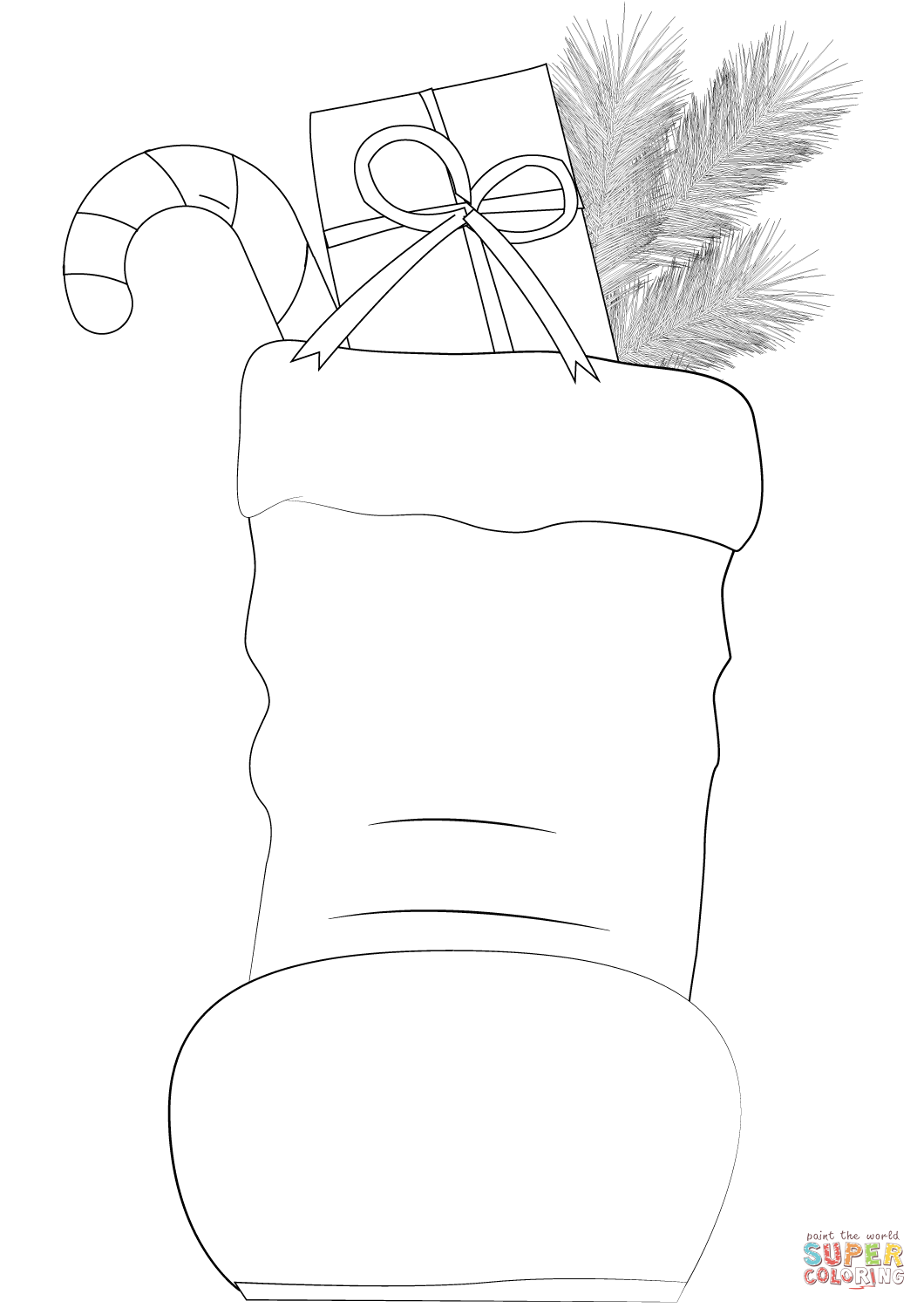 Santa Claus Boots Coloring Page