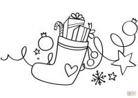 Xmas Stocking coloring page | Free Printable Coloring Pages