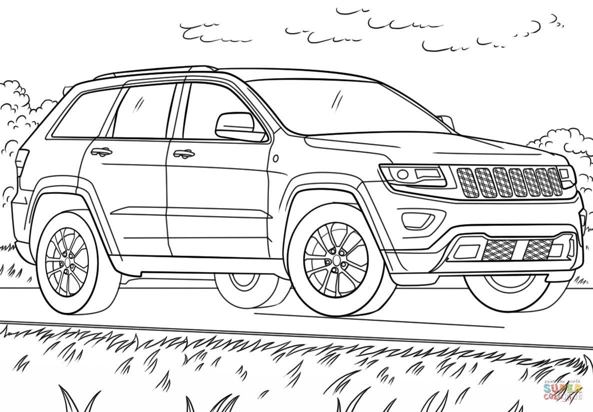 Jeep Grand Cherokee Coloring Page