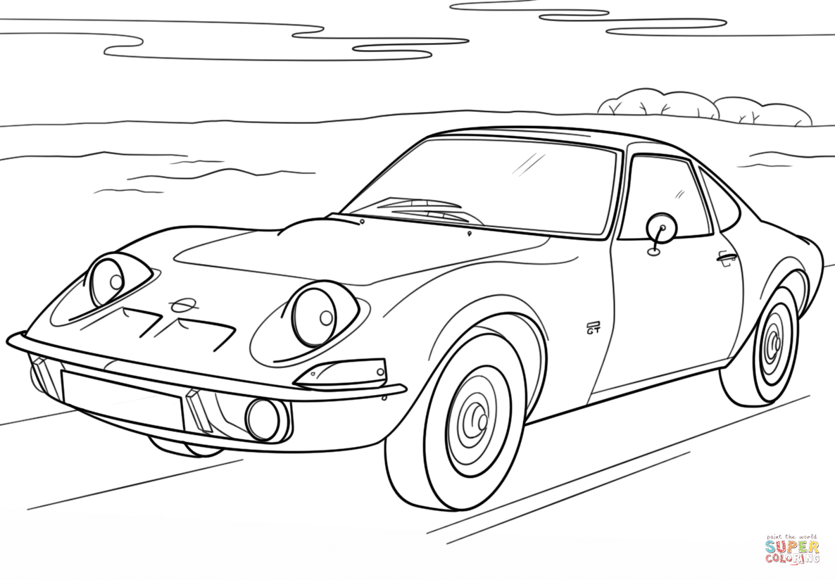 Opel Corsa 3 Door Sketch Coloring Page