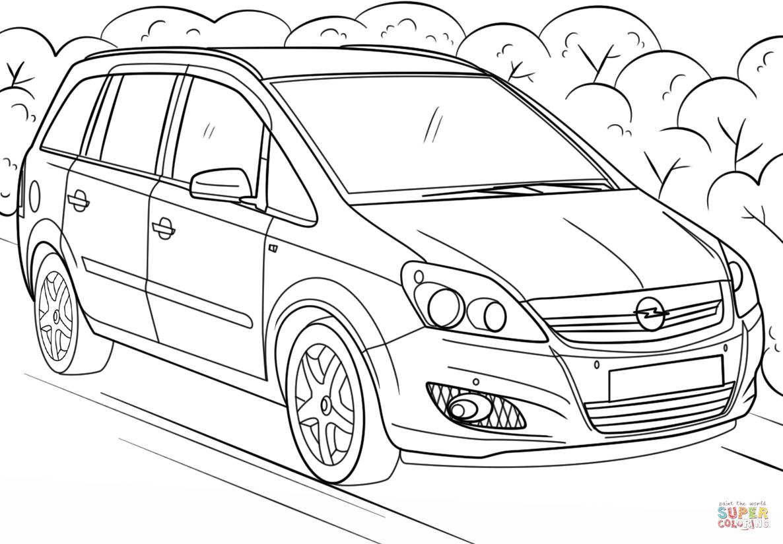 Opel Zafira Coloring Page