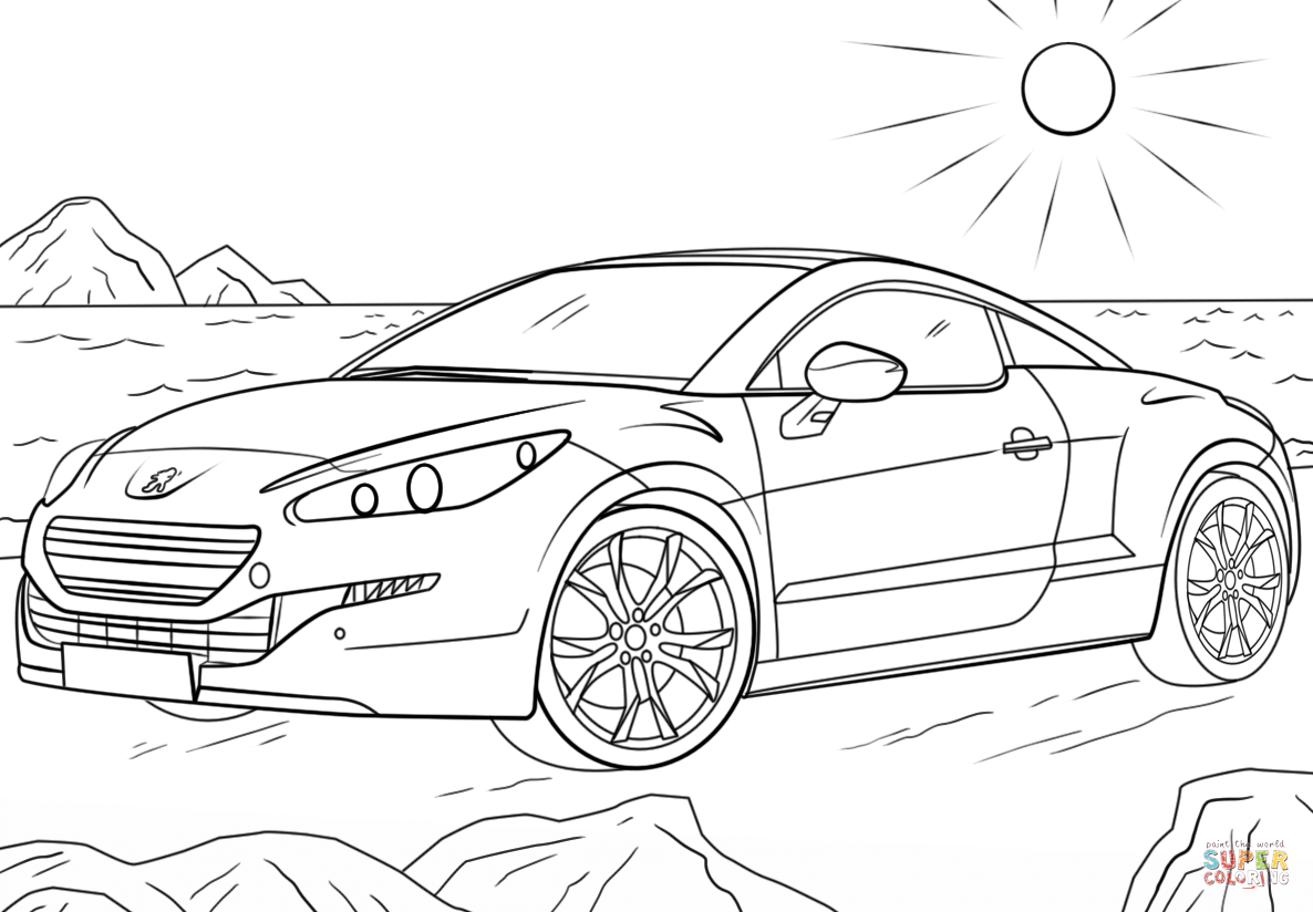 Peugeot 207 Rc Coloring Page Free Printable Pages Sketch