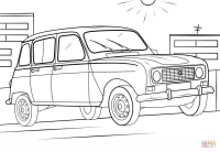 Renault 4 coloring page | Free Printable Coloring Pages