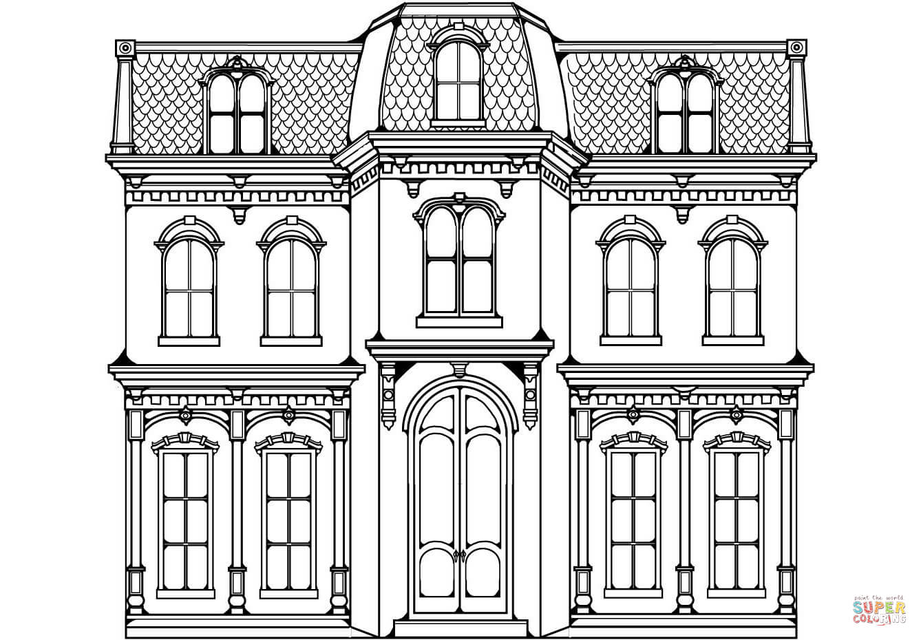 Victorian Home Coloring Page