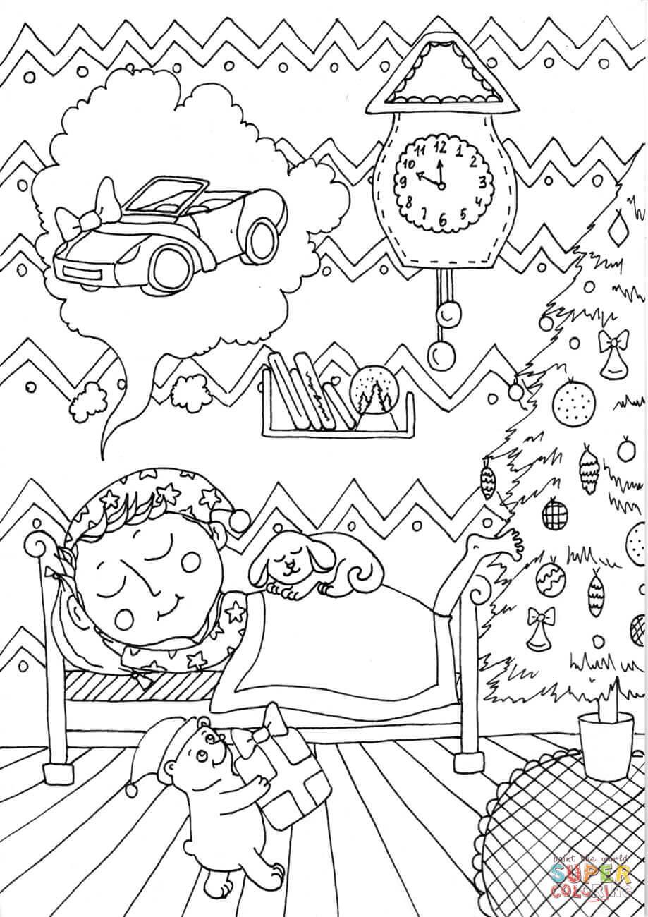 Peter Boy In December Coloring Page Free Printable Coloring Pages