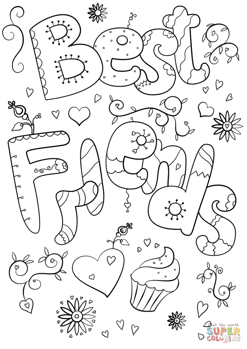 Best Freinds Coloring Page Free Printable Coloring Pages