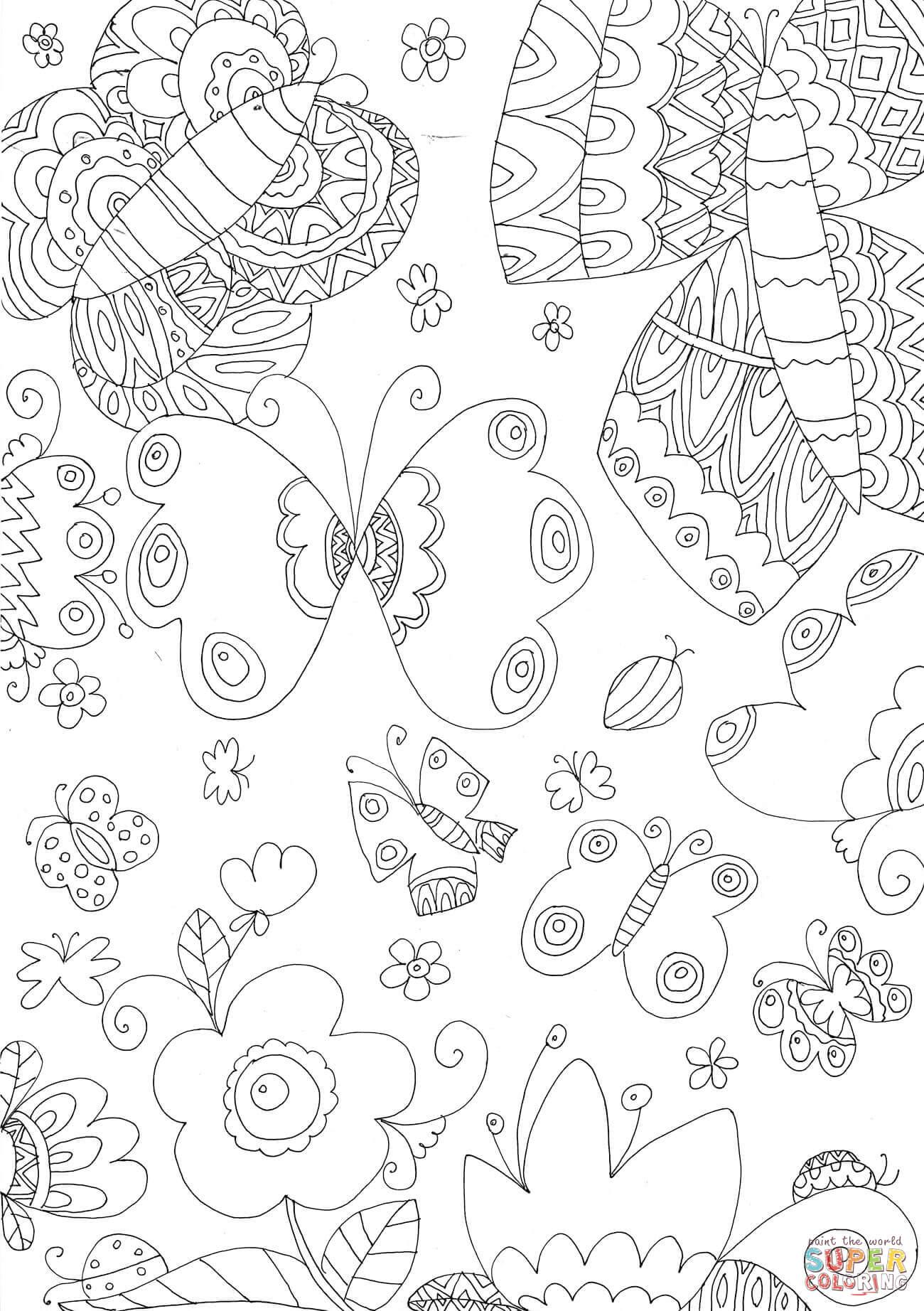 Juegos De Colorear Mariposas. Perfect Sentosphere