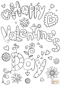 Happy Valentine's Day coloring page | Free Printable ...