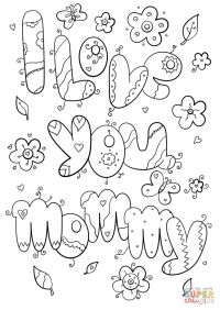 I Love You Mommy coloring page | Free Printable Coloring Pages