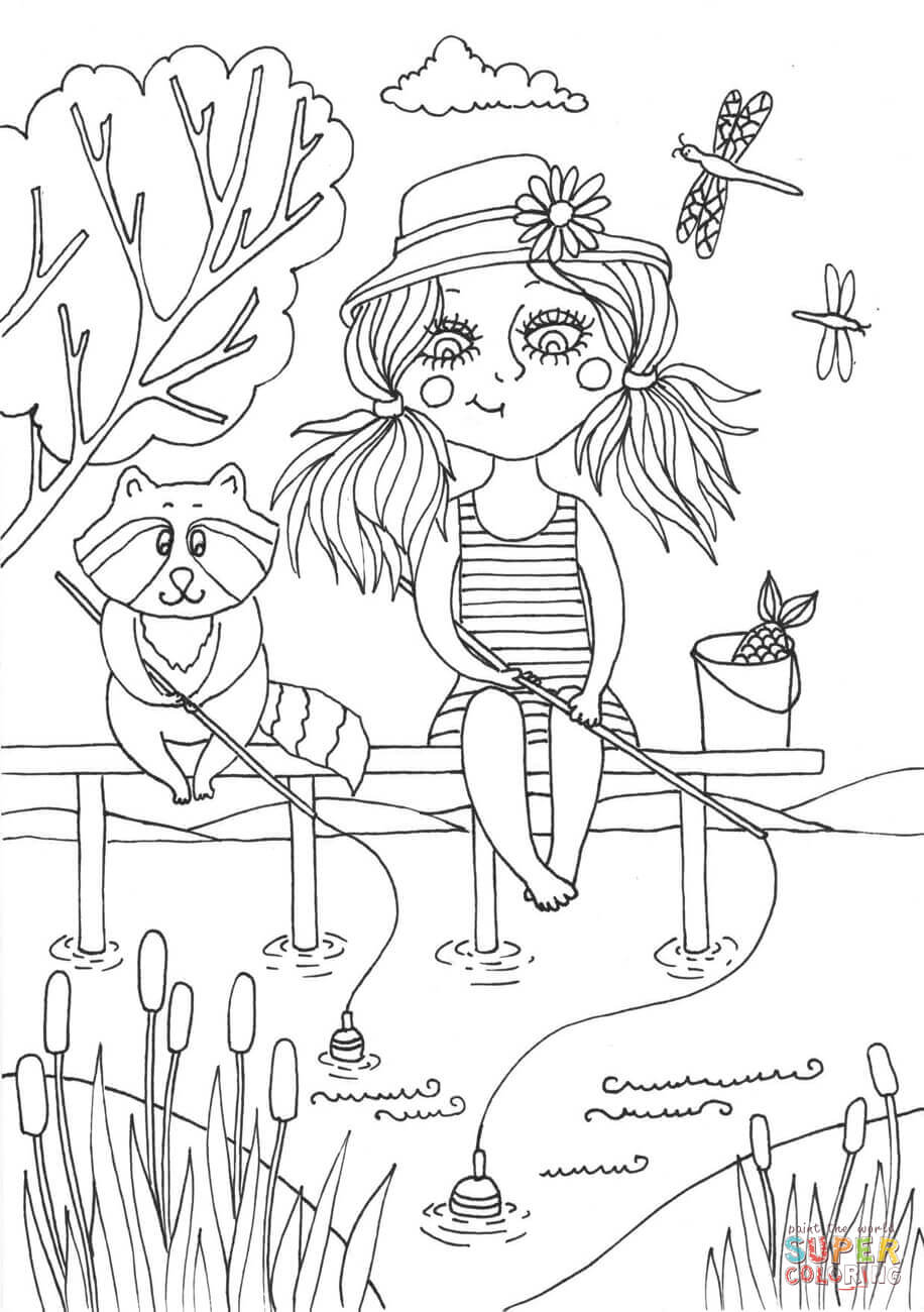 Peppy In June Coloring Page Free Printable Coloring Pages