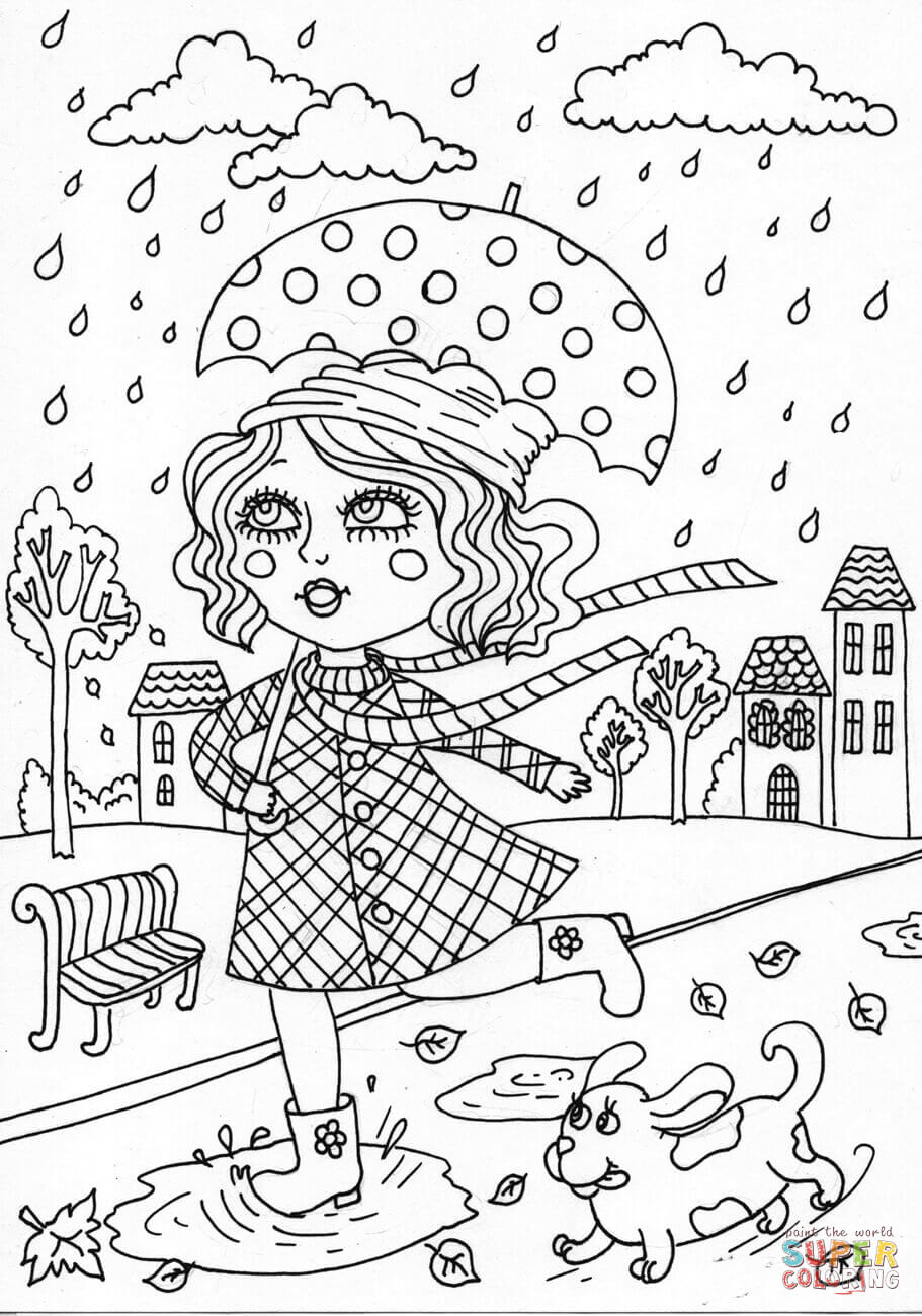 Peppy In October Coloring Page Free Printable Coloring Pages