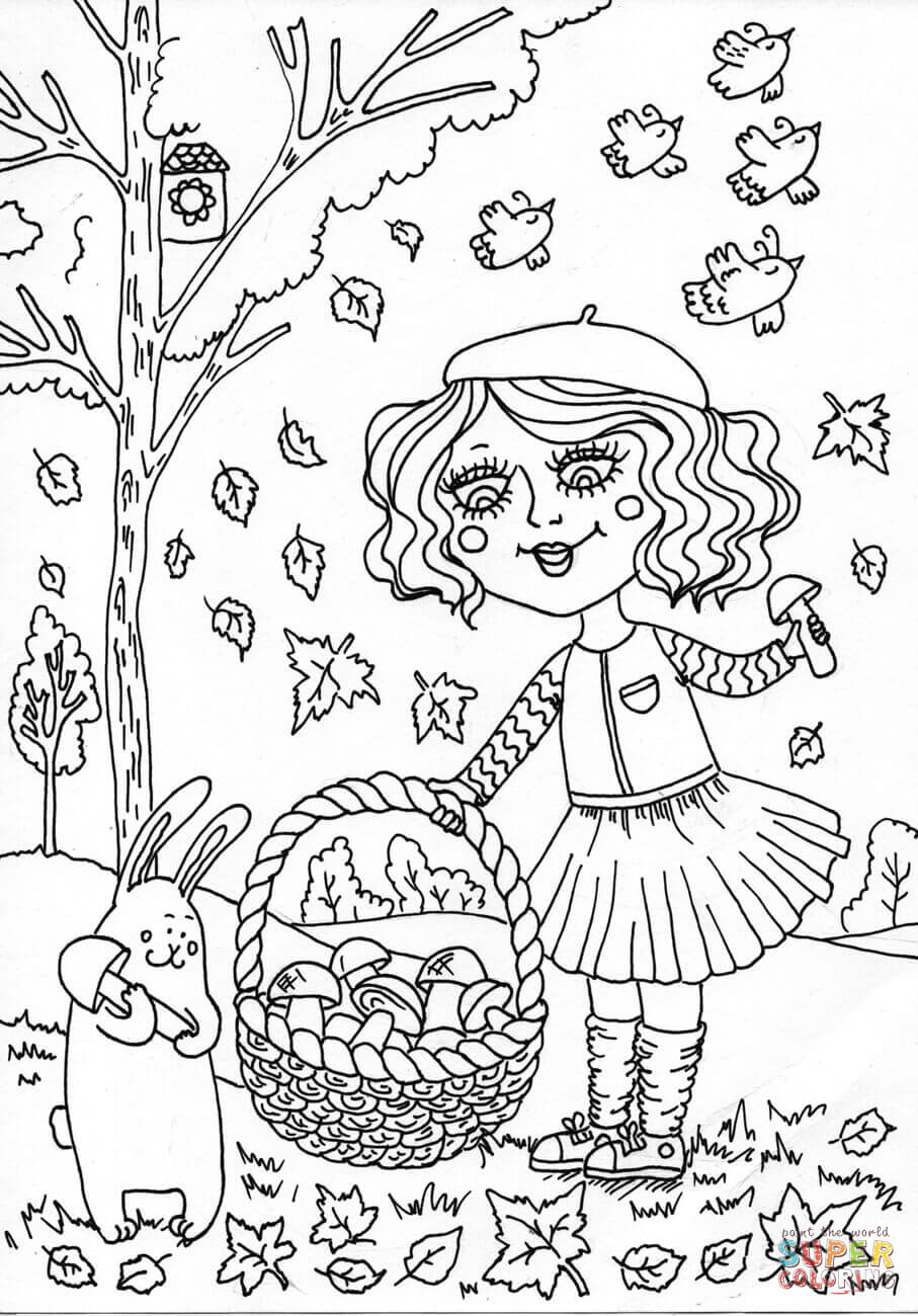 Peppy In September Coloring Page Free Printable Coloring Pages