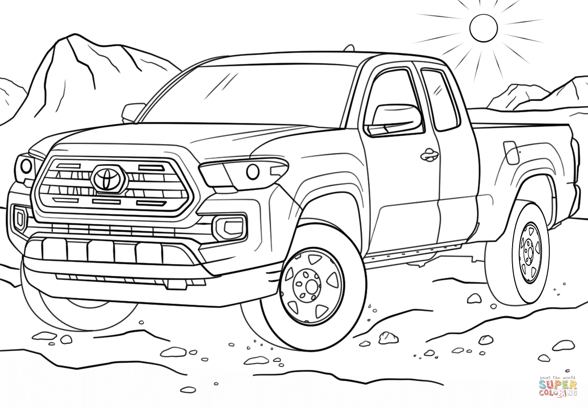 4x4 Truck Drawing Coloring Pages