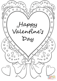 Happy Valentine's Day coloring page   Free Printable ...