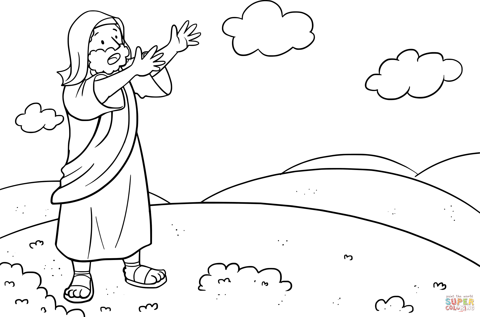 Moses Asked the Lord What to Do with His People coloring