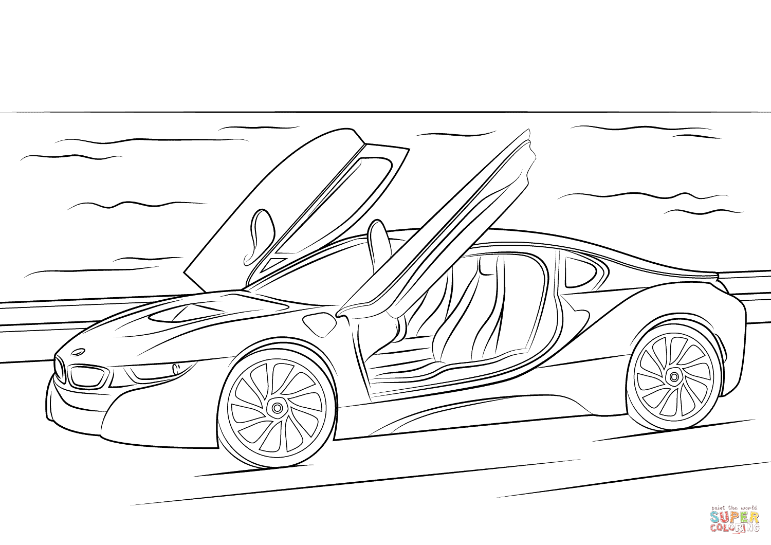 Bmw I8 Coloring Page