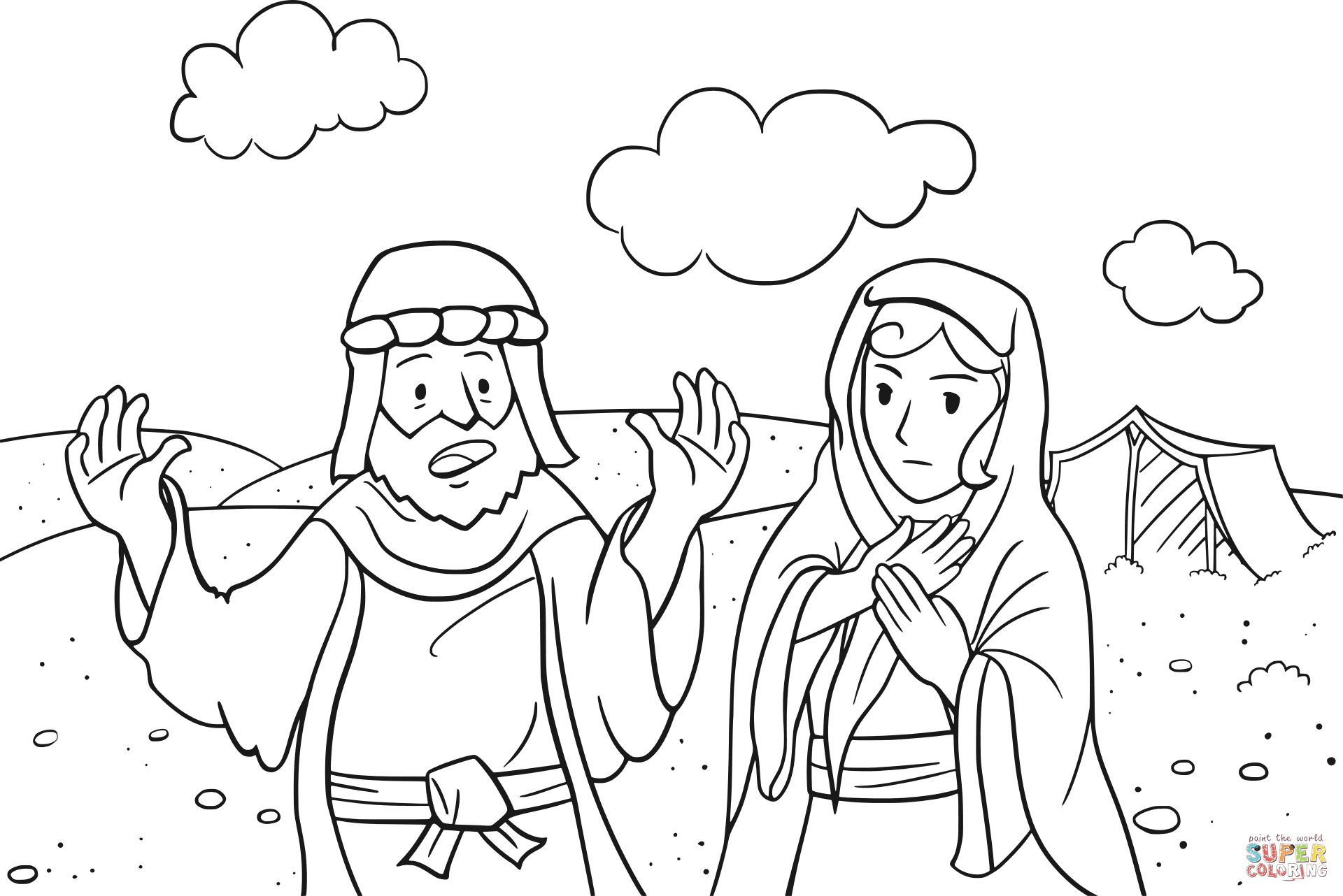 Abram Is Called By God Coloring Page