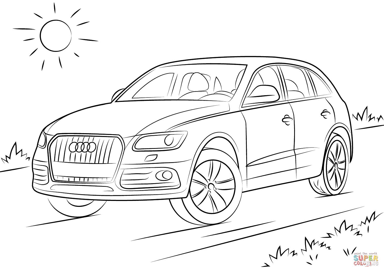 Ausmalbild Audi Q5 | Kinder Ausmalbilder