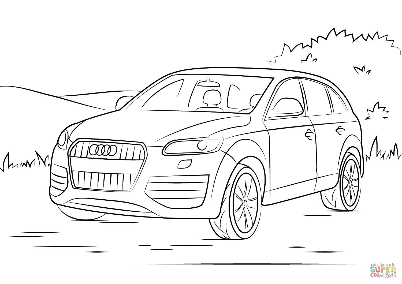 Auto Kleurplaat Audi
