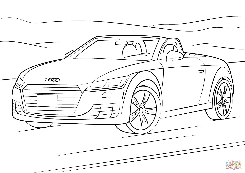 Auto Kleurplaat Audi Tt