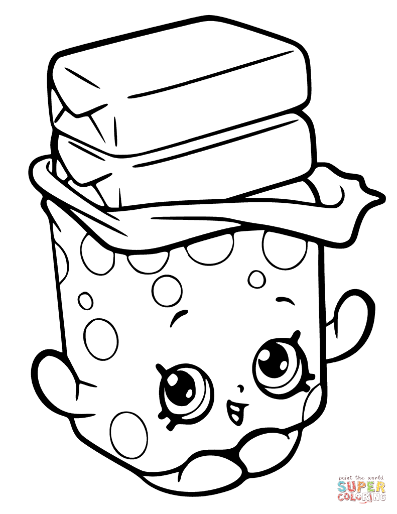 Bobby Bubble Gum Shopkin Coloring Page Free Printable Coloring Pages