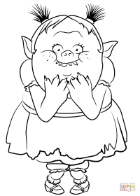 Bridget from Trolls coloring page | Free Printable ...