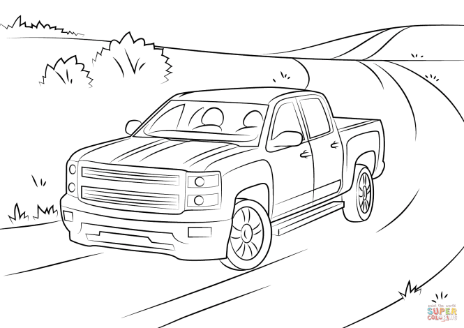Click The Chevrolet Silverado Coloring Pages To View Printable Version Or Color It Online Compatible With Ipad And Android Tablets