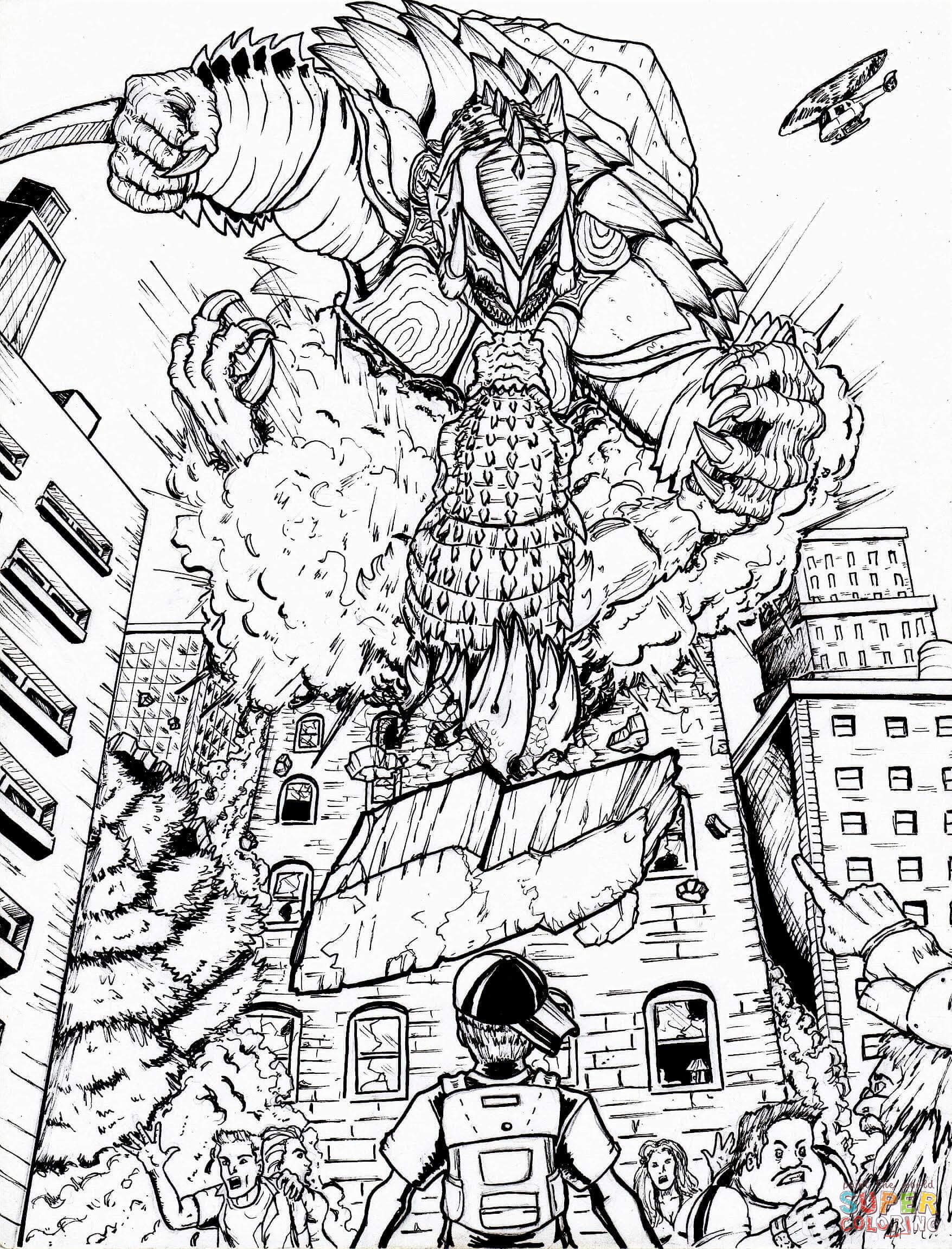 High Quality Free Coloring Pages Download : Rdc Super Godzilla Coloring Page Free  Printable Coloring Pages Of Godzilla