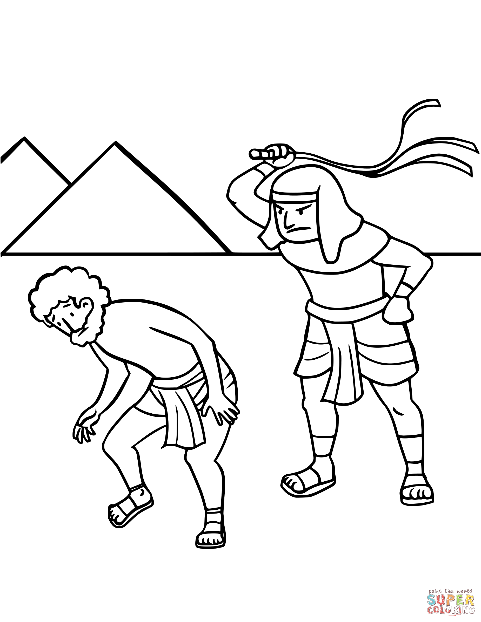 Israel S Enslavement In Egypt Coloring Page