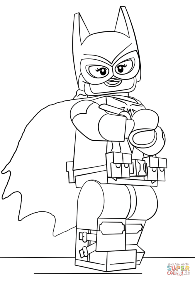 Click The Lego Batgirl Coloring Pages To View Printable Version Or Color It Online Compatible With Ipad And Android Tablets