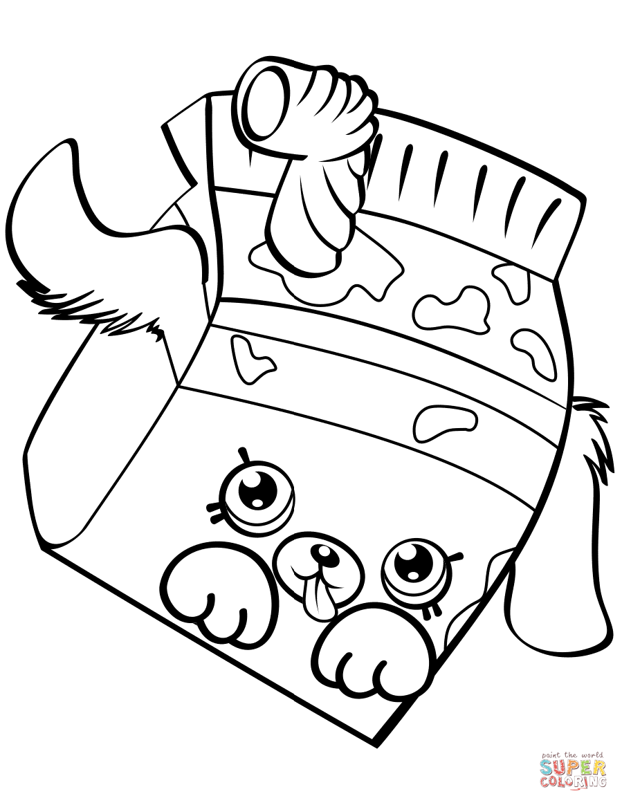 Milk Bud Shopkin Coloring Page Free Printable Coloring Pages