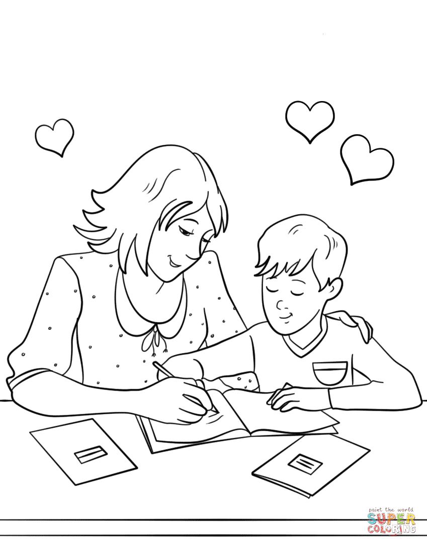Homework Page Coloring Pages